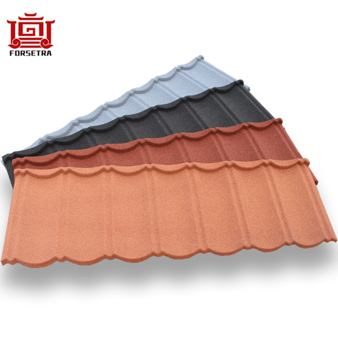 All Types of Light Weighty Eco Systems Weather Friendly 50 Years Warranty Stone Coated Roofing Sheet Featured Image