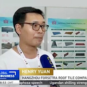 Hangzhou Forsetra Roof Tile Co., Ltd. participated in the International Trade Week in Ghana