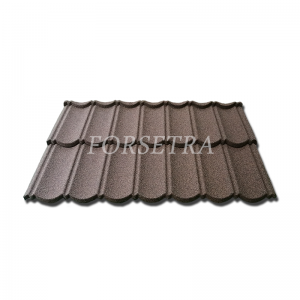 Popular Colorful Stone Coated Metal Roof Tile Bond Type for Ghana