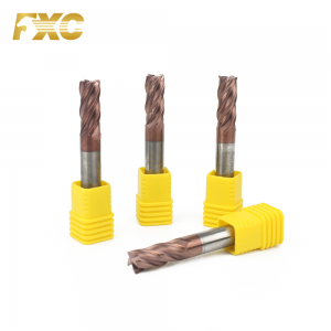 HRC55 High Hardness 4 Flutes Carbide Square End...