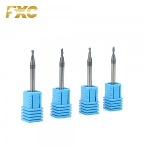 0.1-0.9mm carbide micro ball nose end mill