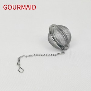 stainless steel mesh tea ball with chain