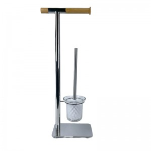 Chrome Plated Freestanding Toilet Holder