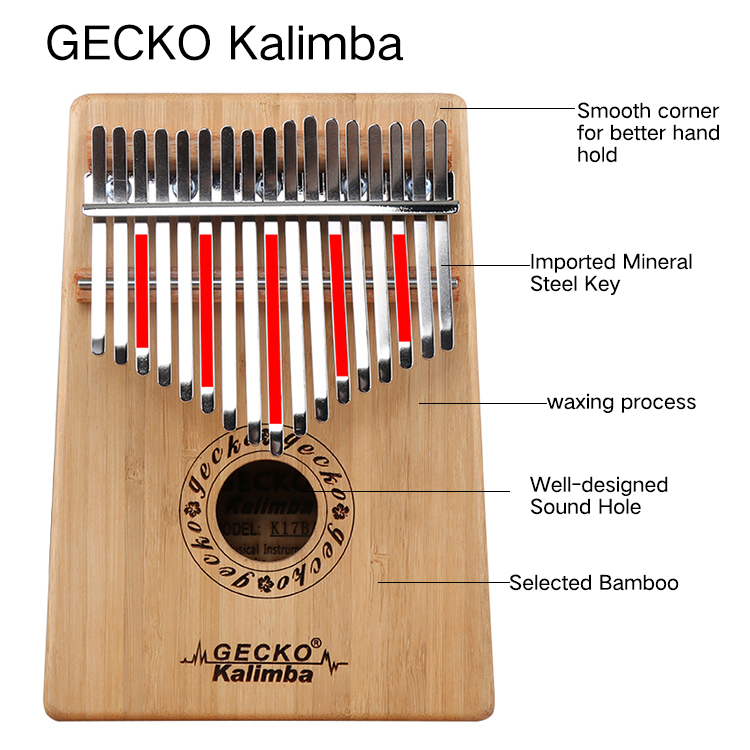 Africa Kalimba Thumb Piano 17 keyboards/Bamboo And Metal Kalimba New Featured Image