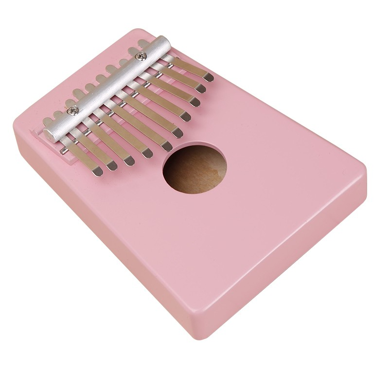 10 Keys Kalimba Mbira Likembe Sanza Thumb Piano Pine Light pink Instrument top quality Thumb piano
