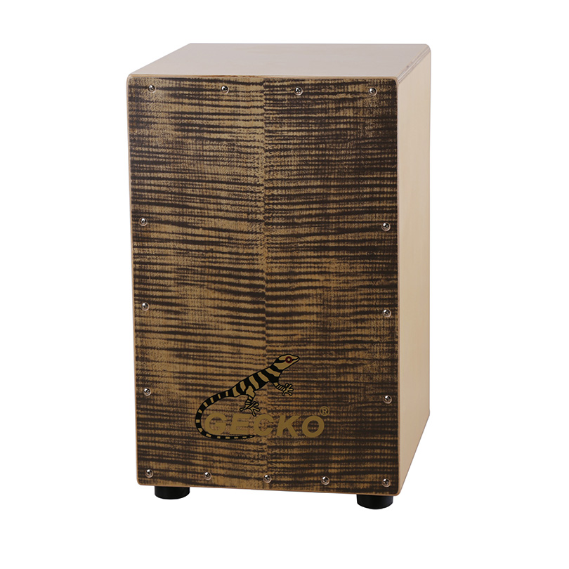 flamed maple music igbe maka ebre, satin imecha drum igbe percussion cajon