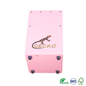 gecko ccolorful wooden cajon for kids