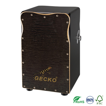 Gecko multifunctional দুই পাশ আলতো চেপে Cajon ড্রাম