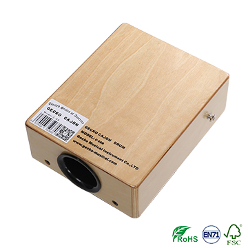 gecko travelling cajon,natural brich wooden cajon