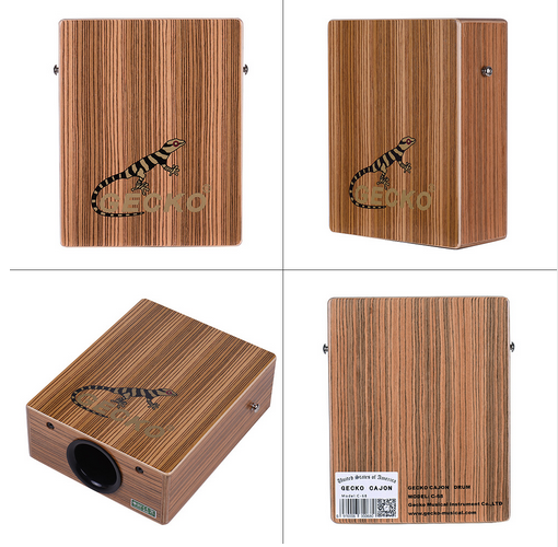 Gecko Traving Cajon Tamburo Ligna Music Box