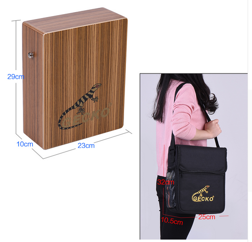 GECKO Traving Cajon Drum Wooden Music Box