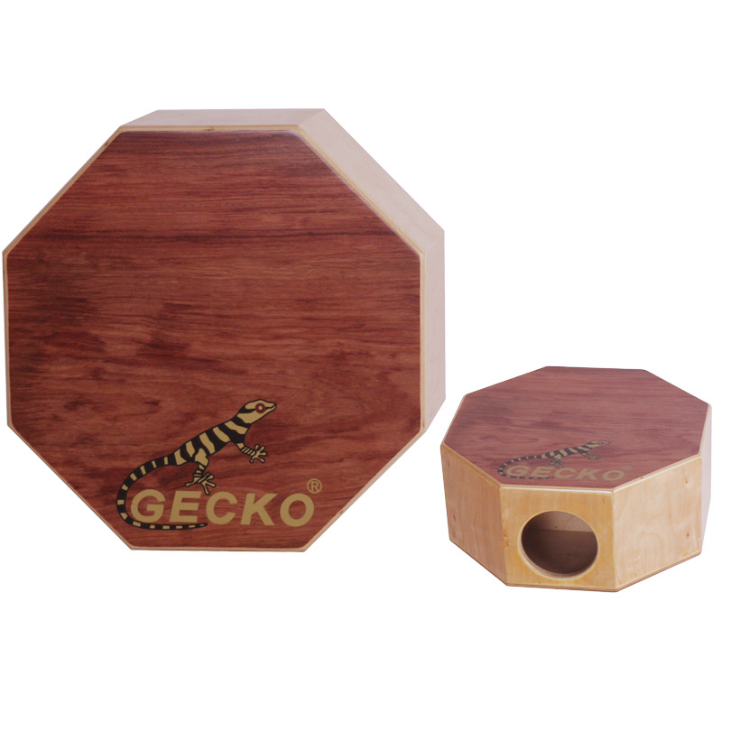 Tse entsoeng ka matsoho Cajon Percussion Box Hand Drum Natural / Wooden Drum