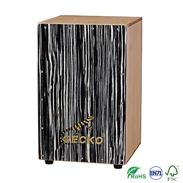 natural wood color cajon drum,professional cajon box factroy for GECKO musical drum set cymbal