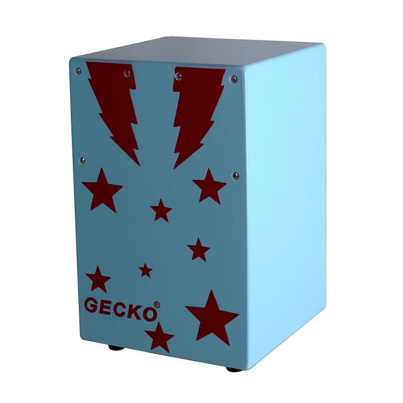 sky blue color children size cajon with strong base bottom,travelling size,portable