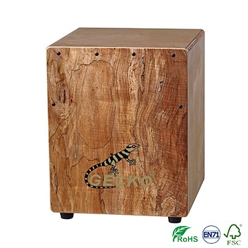 Spalted Wood Gecko Mini Tapping cajon di liceo
