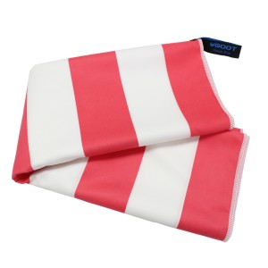 Quick dry microfiber beach towel, stripe printing beach towel