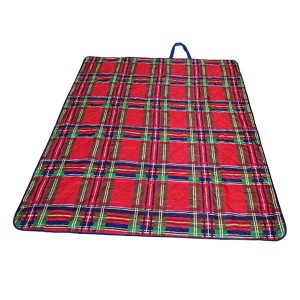 Luxury picnic blanket made by ultrasonic melt