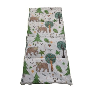 bear printing sleeping bag
