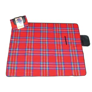 Plaid print Acrylic outdoor picnic blanket