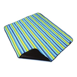 color stripe polar fleece picnic rug