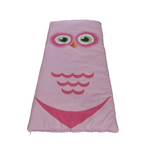 owl printing kids sleeping bag