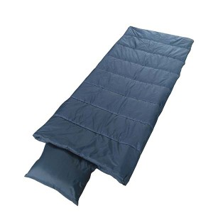 High quality solid color sleeping bag with pillow