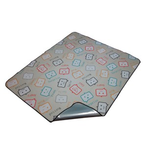 Picnic blanket with online talk topic