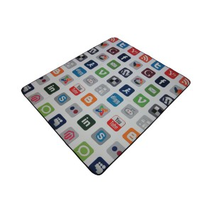 Picnic blanket with Social Media printing