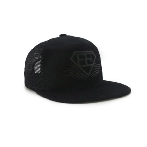 Custom Design Adults Size Leather Patch Trucker Hat5 Panel Mesh Snapback Hat