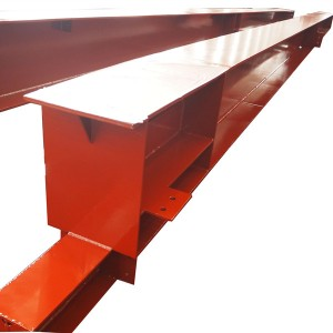 welded steel beam with painting