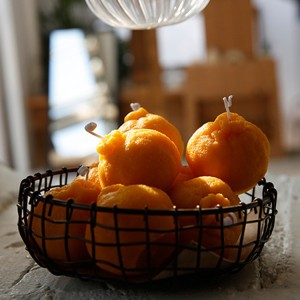 Wholesale scented tangerine orange shape candle