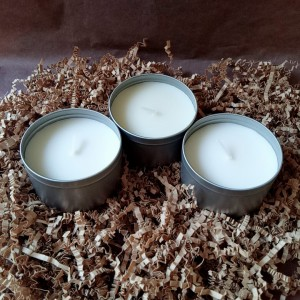 Scented Candle-3 Scented Candles Soy Wax Travel Tin Gift Candles for Aromatherapy