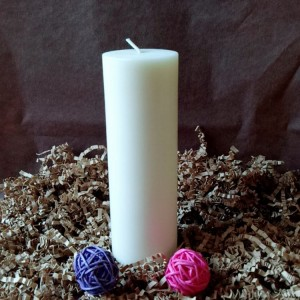 Pillar Candle-1 White and Ivory Lavender Scents Fragrance Soy Simple Pillar Candles