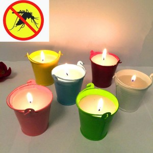 Citronella Candle-2 bucket shaped garden use colourful citronella scent mosquito candle for outdoor candles