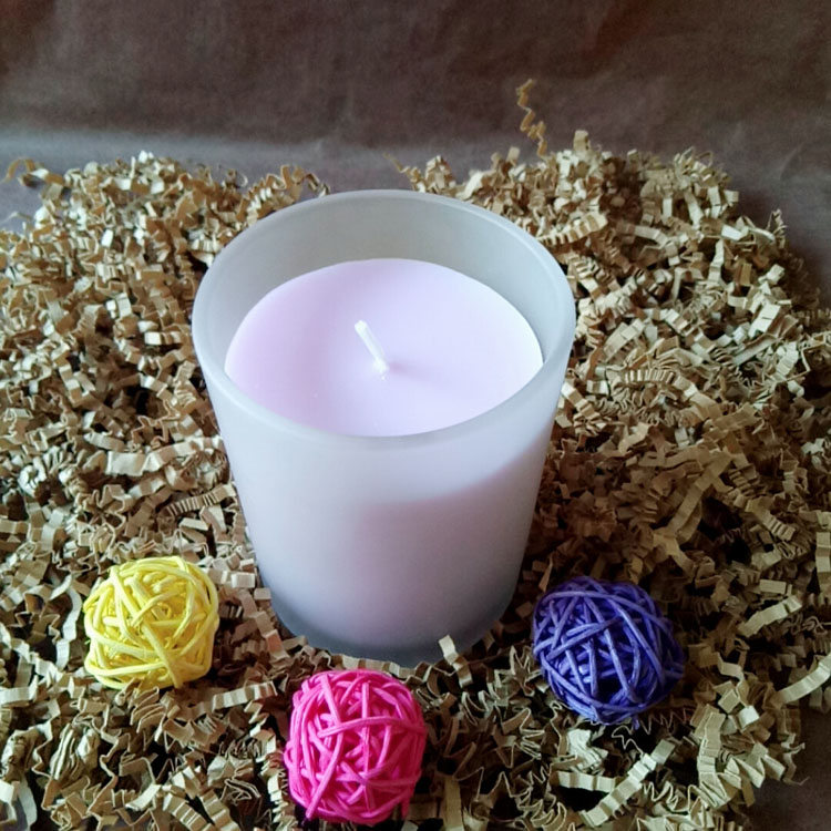 Scented Candle-1 Violet Noir Fragrance Scented Glass 8oz Candle with 100% Organic Soy Wax Featured Image