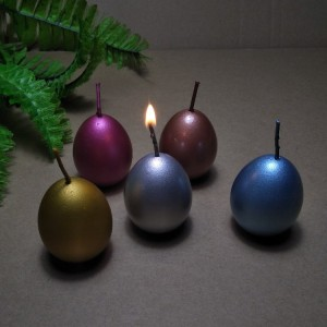 Supply colorful easter egg candle