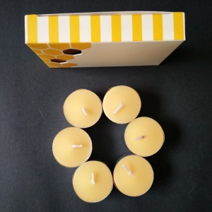 6hours burning beeswax tealight candle