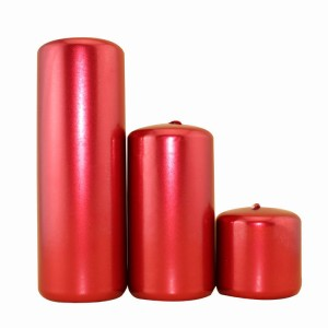 Pillar Candle-3 Clean Burning Metallic Painting Unscented Votive Pillar Candles for Decoration