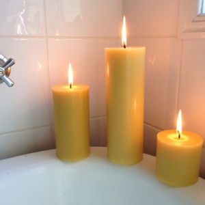 Natural Beeswax pillar candle