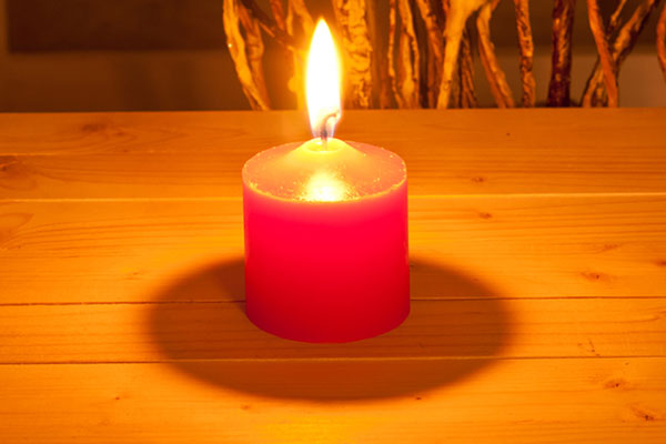 Red Pray Candles