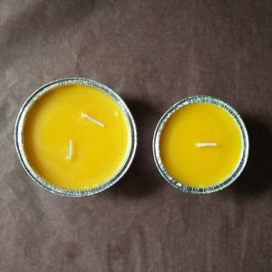 Citronella Candle-1 Egg Tarts Shell Foil Yellow Colour Citronella Paraffin Wax Candles for Garden Barbecue