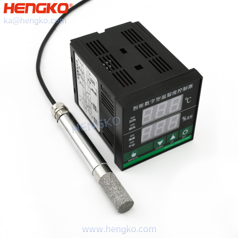 digital temperature and humidity controller with soil humidity sensor probe which bear high temperature uesd for Egg Incibator, 0-99.9%RH
