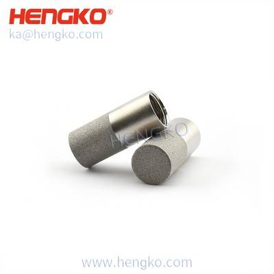 HK83MEN waterproof sintered stainless steel humidity sensor probe housings for humidity and temperature transmitter