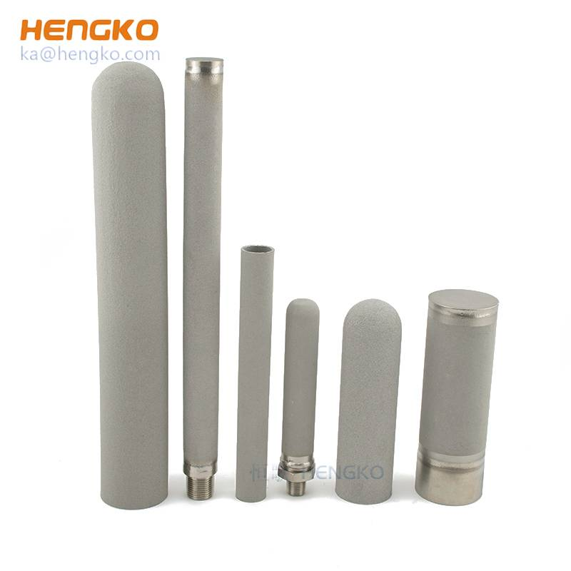 0.2um to 90 micron 5 – 100mm height powder or wire mesh porous sintered metal stainless steel filter tube