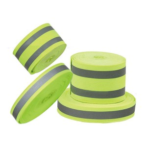 100% Polyester Transfer Grey Reflective Warning Tape