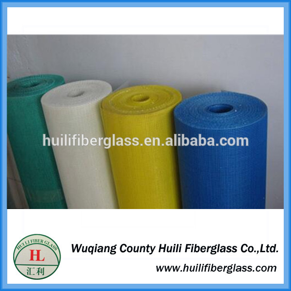 110g 10*10 Plain Woven Weave Type and C-Glass Yarn Type fiberglass mesh
