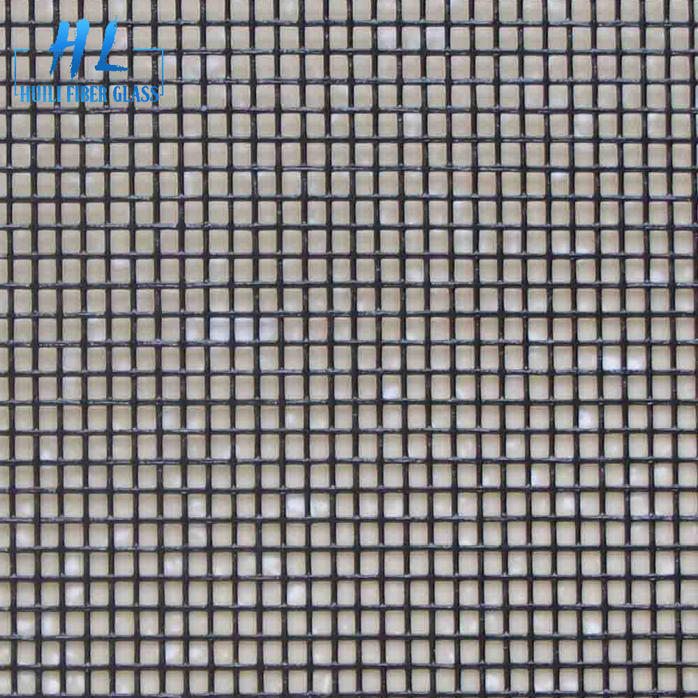18×16 gray color pvc coated plain woven glass fiber 0.28mm yarn insect screen