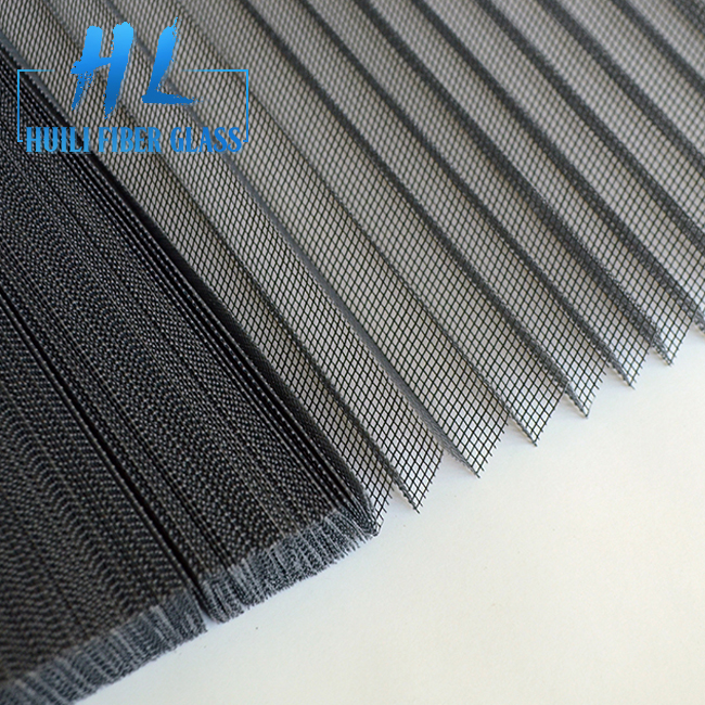 Polyester PP Plisse Mesh Pleated Panels for Sliding Doors