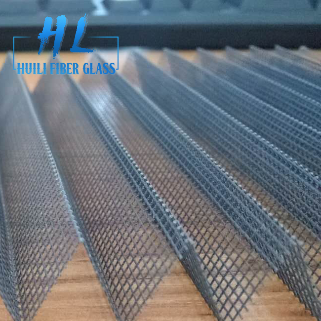 16mm Grey Polyester Plisse Insect Screen Pleated Mesh for Sliding Doors