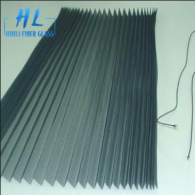 Plisse or Pleated Insect Mesh, Made of Fiberglass and Polyester polypropylene mosquito net